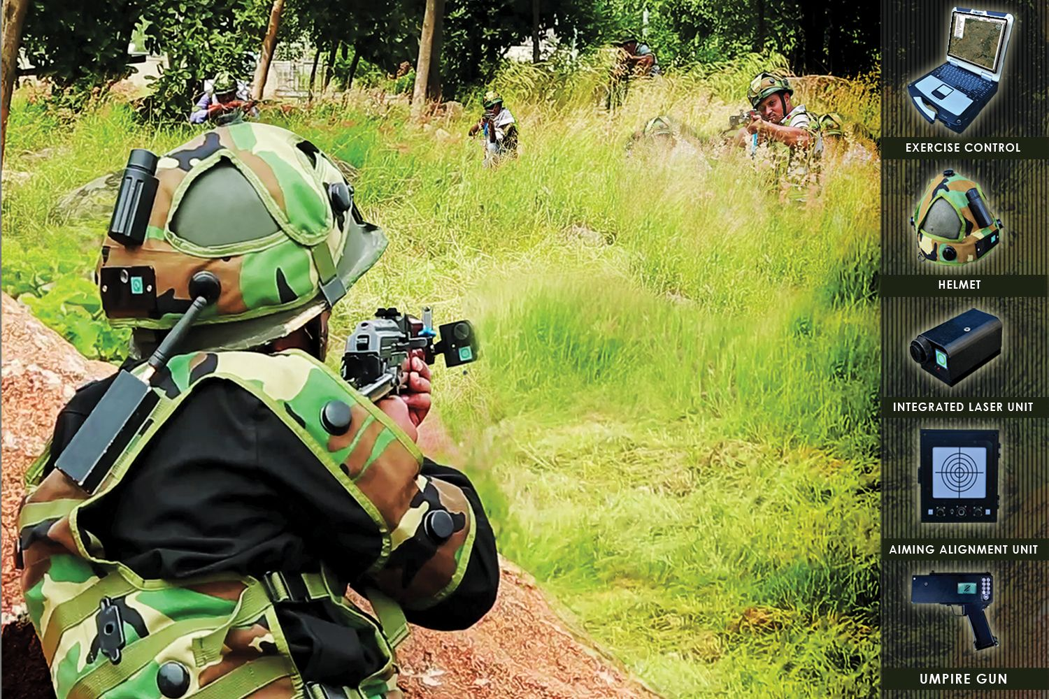 Tactical Engagement Simulator with Indoor Tracking System (ITS)