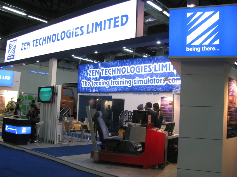 Zen Technologies stall at IISE 2009