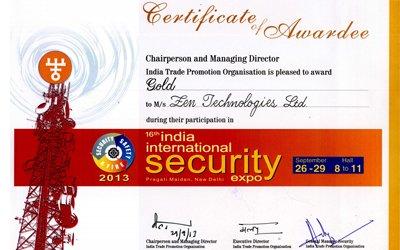Best exhibitor-Gold award