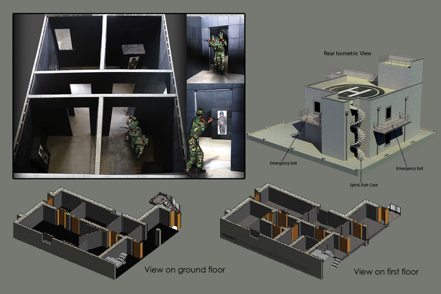 Shoot House for Live and Simulated Indoor Tactical Training